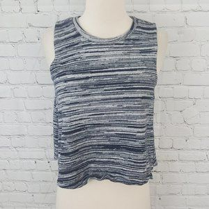 Madewell knit Tank Top shell Blue Space Dye S